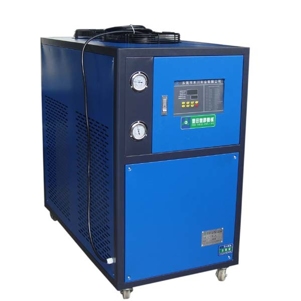 Blue 5HP Industrial Air Cooled Chiller With Motor Overload Protection Function
